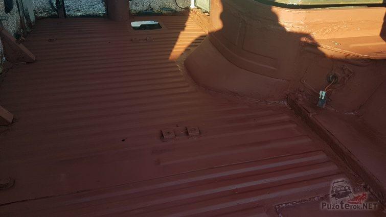 Покраска салона УАЗ корабельным суриком