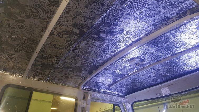 Шумоизоляция крыши УАЗ