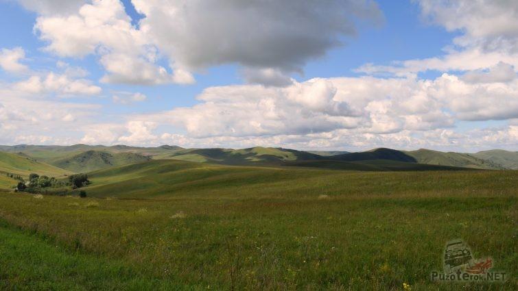 Виды Алтайского края в сторону Солонешного