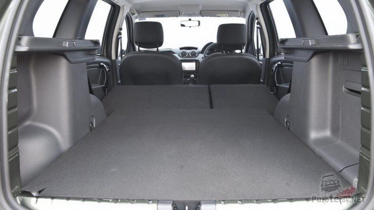 Багажник Рено Дастер со сложенными сиденьями