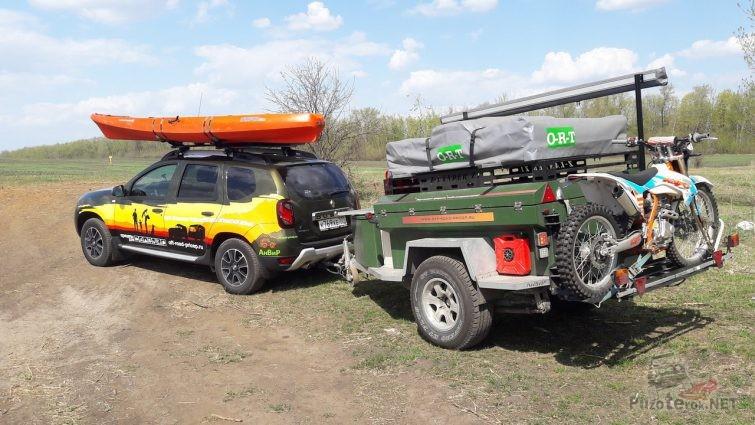 Экспедиционный рено дастер с прицепом