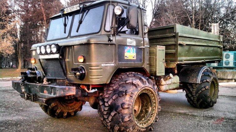 ГАЗ-66 на арочных колесах