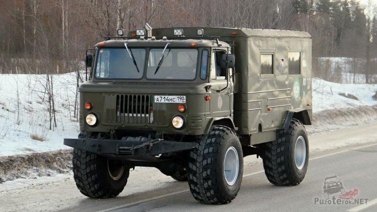 ГАЗ-66 на портальных мостах и больших колесах