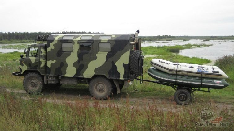 ГАЗ-66 охотничий автодом кемпер
