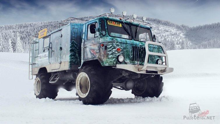 ГАЗ-66 тюнинг и аэрография