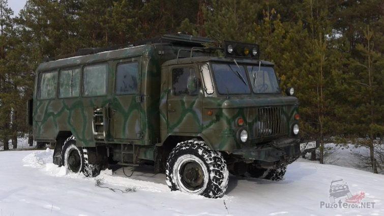 ГАЗ-66 в тайге