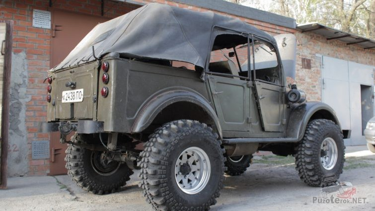 ГАЗ-69 А на военных мостах
