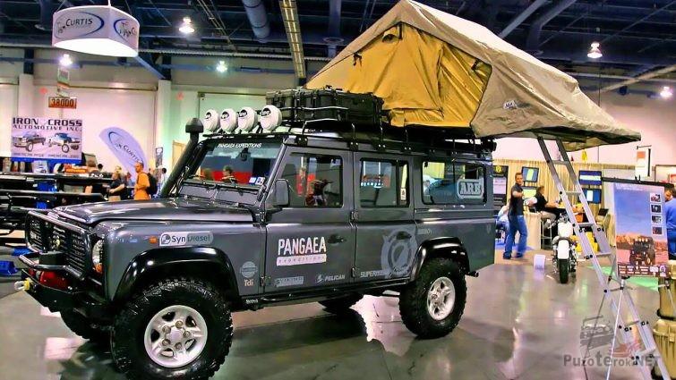 Land Rover Defender off Road Tuning на выставке в Москве