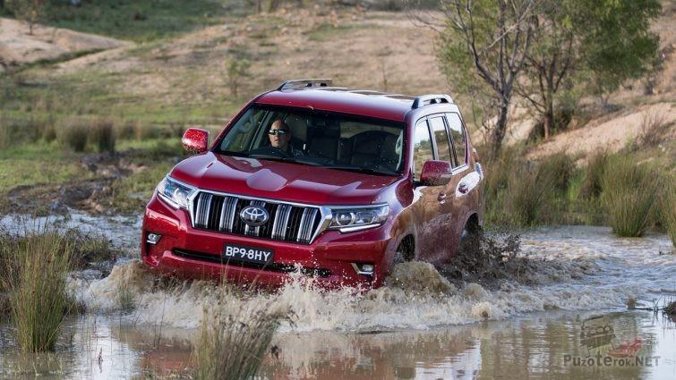 Тойота Прадо 2018 на бездорожье