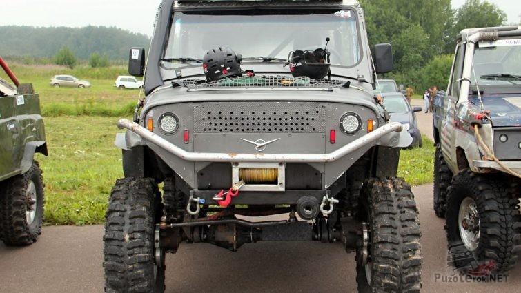 УАЗ ТР3 с бортовыми редукторами на мостах