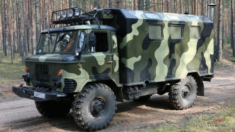 Военный ГАЗ-66 с кунгом