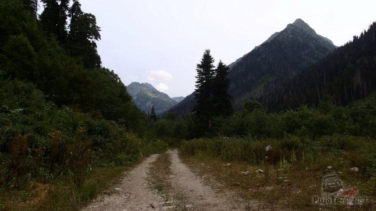 Дорога по ущелью Дамхурц