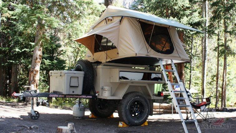 Экспедиционный прицеп с палаткой