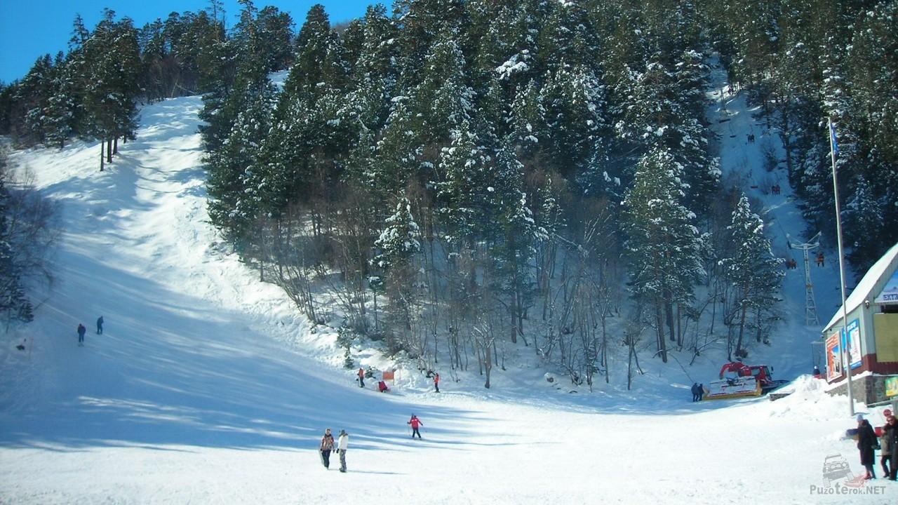 Гора Чегет, лыжная трасса