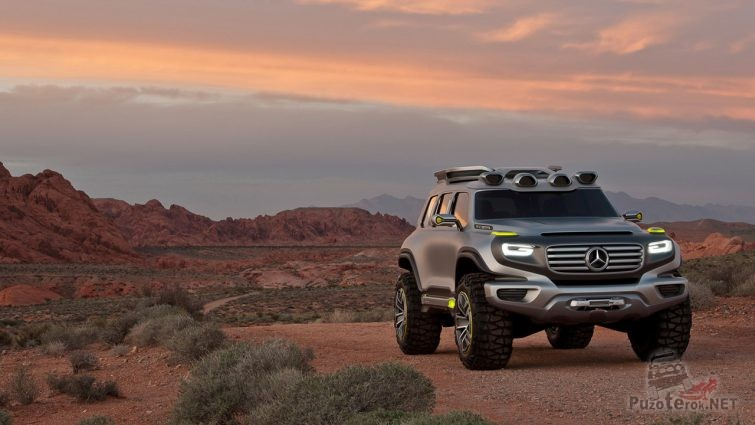 Mercedes Benz Ener-g-Force на дороге