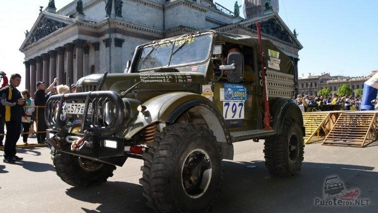 Подготовленный ГАЗ-69 на Ладоге