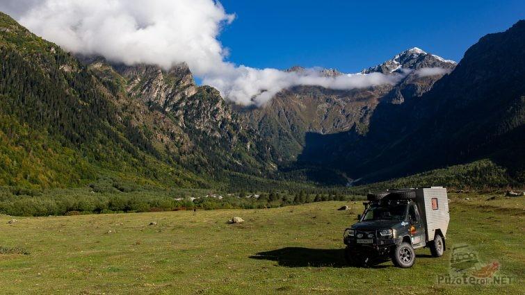 Путешествие на УАЗ Кемпер в горы Кавказа