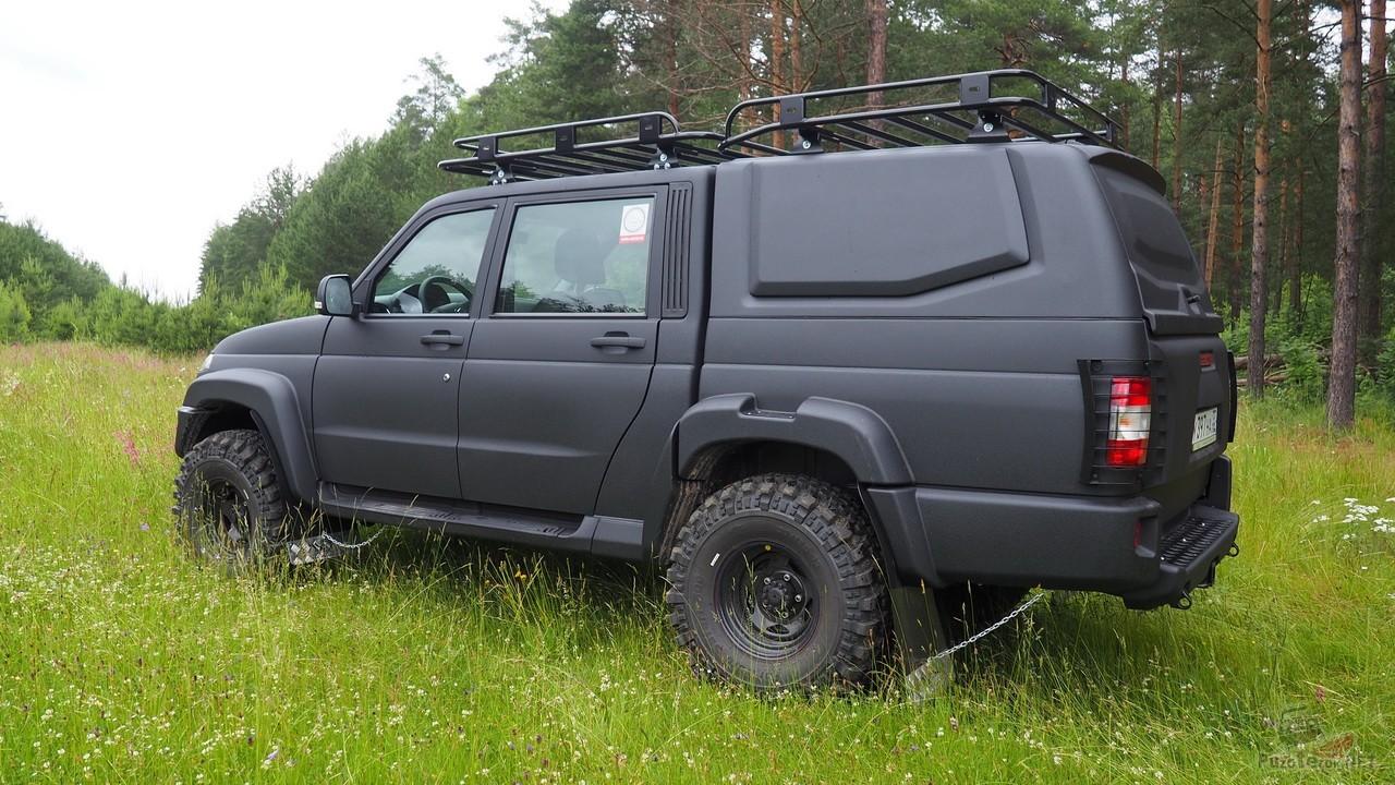 УАЗ Пикап с крышей кузова кунгом от ABC-дизайн