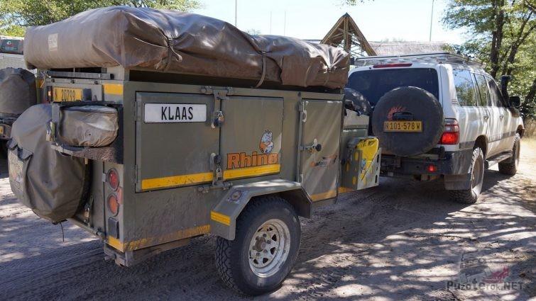 Внедорожный прицеп для багажа с палаткой