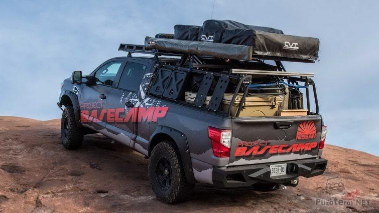 Экспедиционный пикап с объемным кузовом и багажником сверху