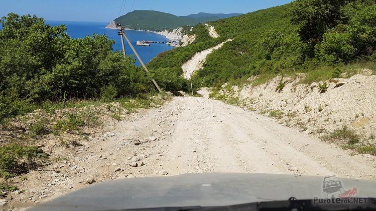 Дорога в Малом Утрише в сторону долины Сукко