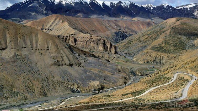 Горный перевал Лех-Манали в Индии