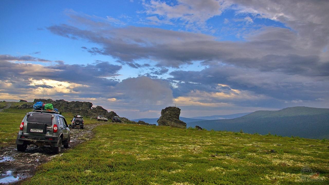 Горный перевал на Северном Урале