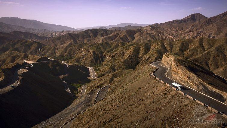 Горный перевал в Марокко