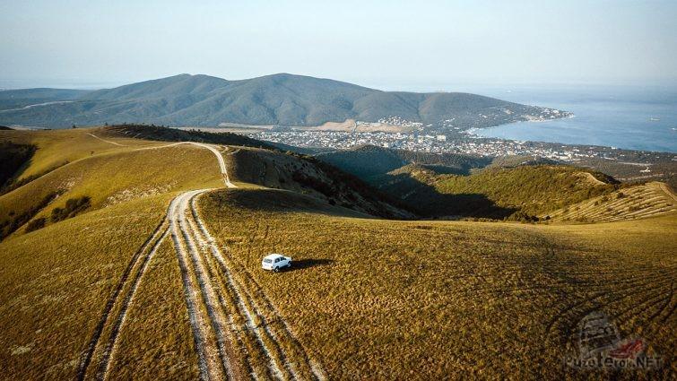 Кабардинский перевал с высоты птичьего полёта