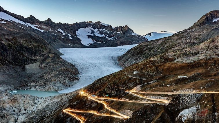 Перевал Фурка в Швейцарии