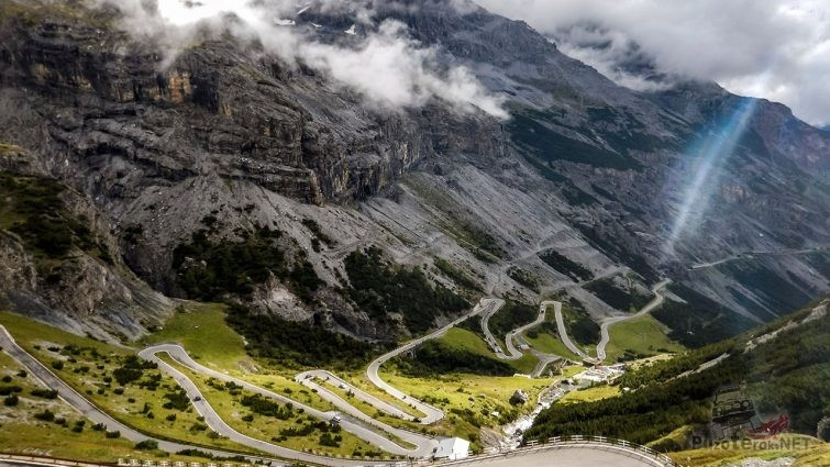 Перевал Стельвио в итальянской Ломбардии