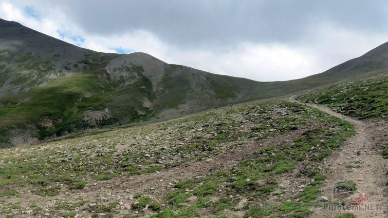 Участок Кабардинского перевала в сторону Джилы-Су