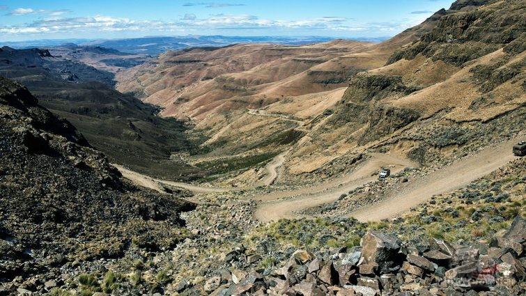 Высокогорный участок перевала Сани Пасс в Южной Африке