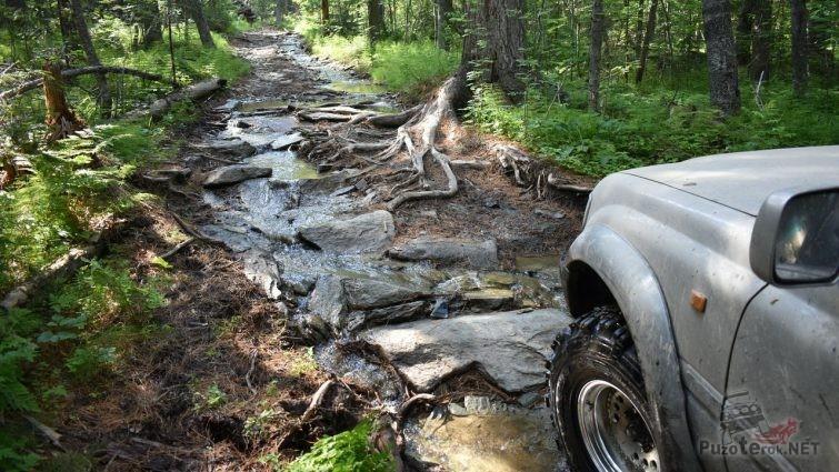 Лэнд Крузер на пути к перевалу Дятлова