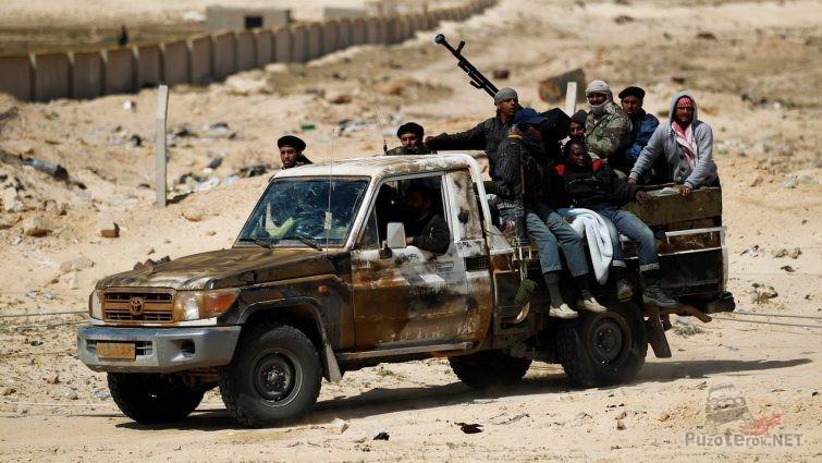 Пикап арабских террористов