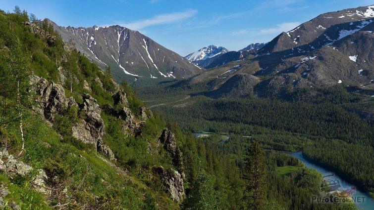 Река, горы и тайга приполярного урала