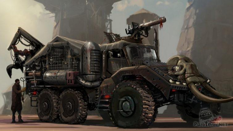 Трёхмостовый грузовик для зомби апокалипсиса
