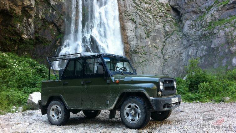 УАЗ для доставки туристов на водопады