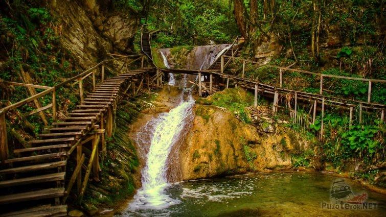 Водопад в Сочи 33 водопада, ущелье Джегош