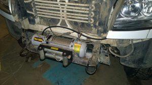 Лебёдка Electric winch 12000 на УАЗ Патриот