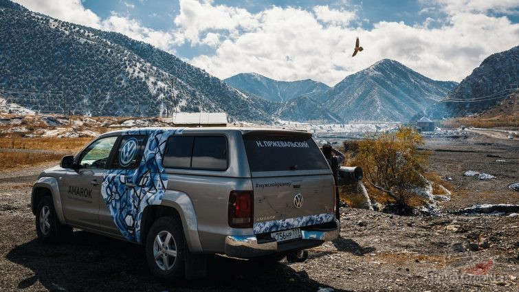 Амарок в горах с красивым пейзажем