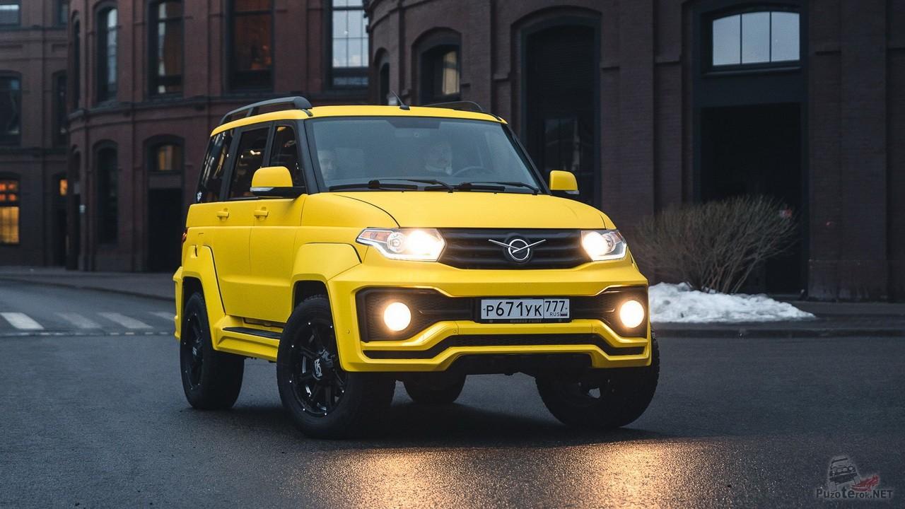 Жёлтый УАЗ Патриот с АКПП