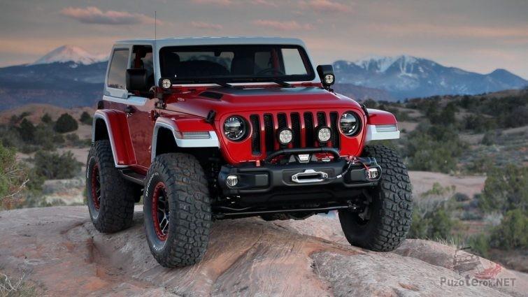 Красный Джип Jeepster Concept
