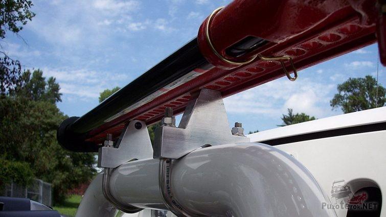 Крепление домкрата на трубу бампера