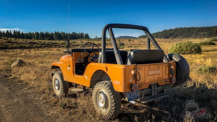 Раритетный Jeep CJ-5 вид сзади