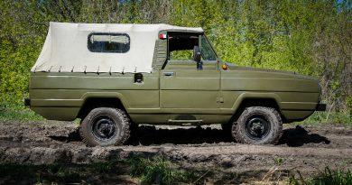 Тентованый УАЗ-3907 Ягуар вид сбоку
