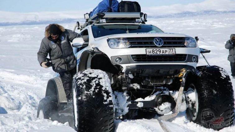 Внедорожный амарок в полярной экспедиции