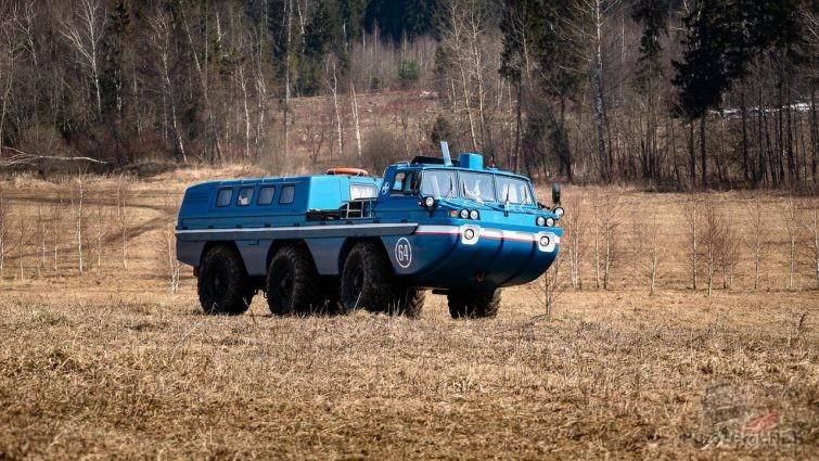 ЗИЛ-49061 синяя птица на поле