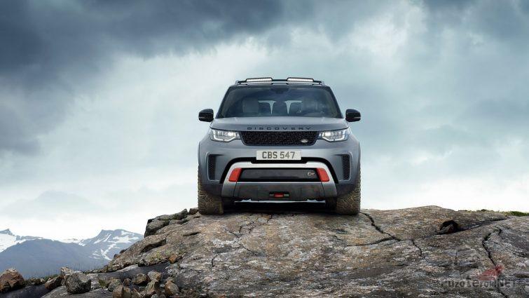 Land Rover Discovery SVX на скале