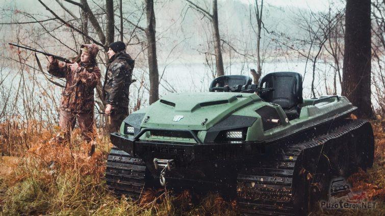 Охотники с вездеходом Тингер